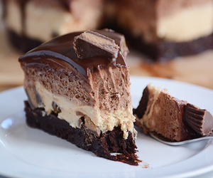 cake, chocolate, and peanut butter image