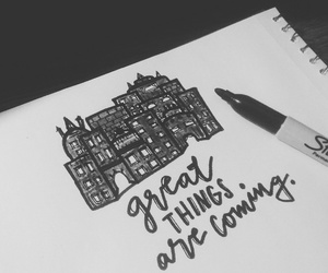 black and white, hand lettering, and quotes image