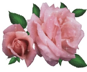 glittery, pink, and roses image