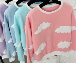 chanel, clouds, and pullover image