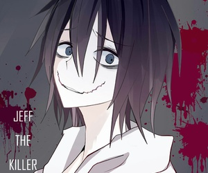 jeff the killer, creepypasta, and blood image