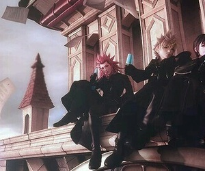 kingdom hearts, roxas, and axel image