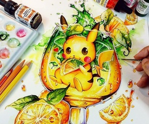 pikachu, art, and pokemon image