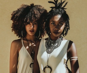 Afro, dreadlocks, and girls image