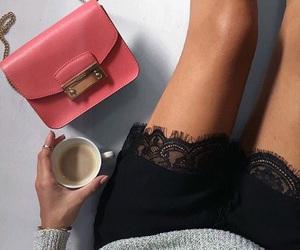 bag, blogger, and coffee image