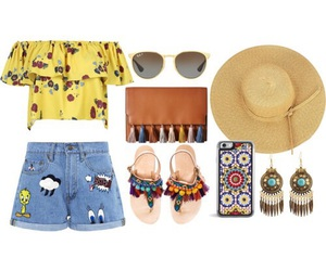 cool, summer, and outfit image