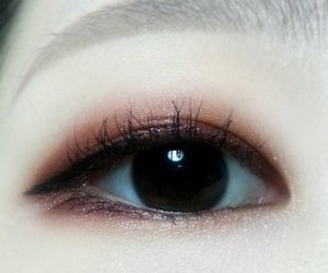 eye, korean, and makeup image