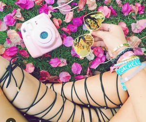 coachella, camera, and sunglasses image