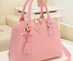 pink, bag, and Prada image
