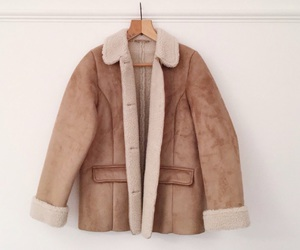 brown, coat, and cosy image