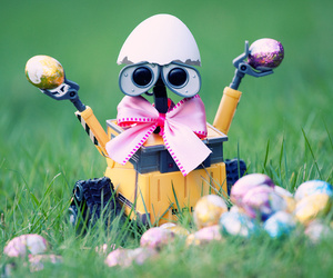 bow, easter, and easter eggs image