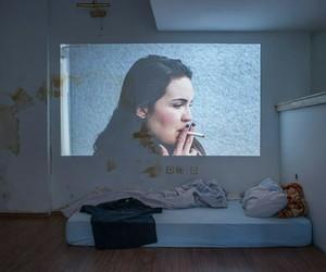 beauty, bedroom, and smoke image