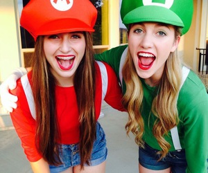 costume, luigi, and mario image