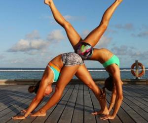 yoga, girl, and summer image
