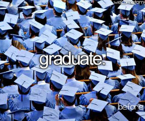 graduate, graduation, and college image
