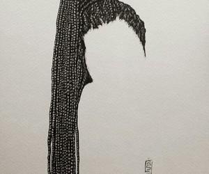 braids, art, and hair image
