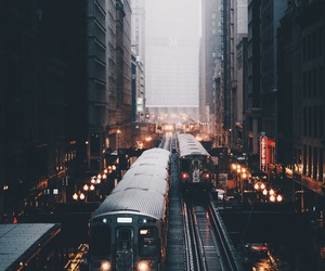 city, light, and train image