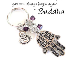 Buddha, keychain, and quotes image