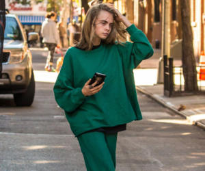model, cara delevingne, and green image