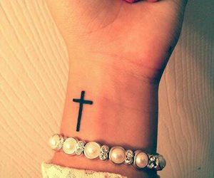 tattoo, cross, and beautiful image