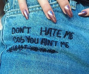 jeans, nails, and quotes image