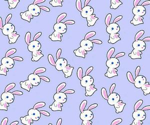 bunny, kawaii, and purple image