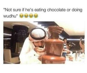 arabs, chocolate, and funny image