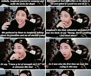 cutie, talking about jungkook, and aaww poor baby image