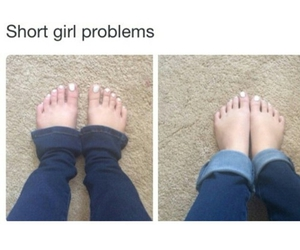 funny and short girl problems image