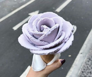beauty, ice cream, and flowers image