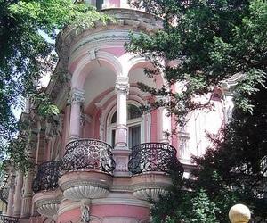 pink, architecture, and bratislava image