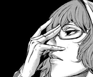 beautiful, black & white, and manga image