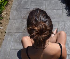 back, black, and brunette image