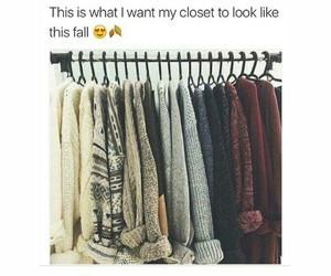 sweater, goals, and closet image
