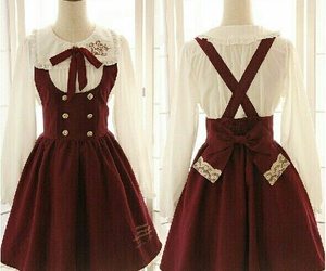 dress, red, and lolita image