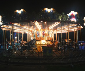 autumn, merry-go-round, and summer image