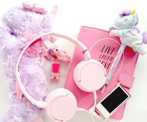 pink, music, and cute image
