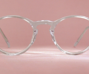 glasses, pink, and aesthetic image
