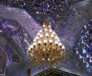 allah, architecture, and chandelier image