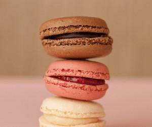 macarons, chocolate, and pink image
