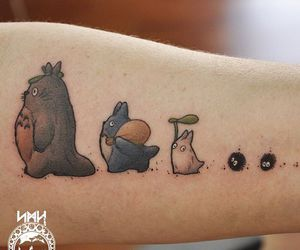 totoro, tattoo, and anime image