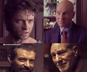 hugh jackman, Marvel, and patrick stewart image