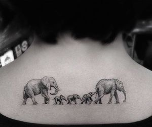 family and elephant tattoo image