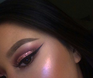 makeup, beauty, and highlight image
