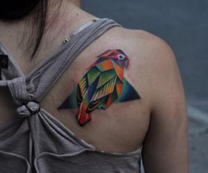 bird, colors, and tattoo image