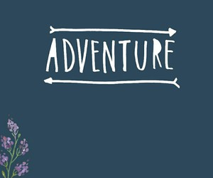 adventure, flower, and quote image