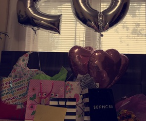 20, gifts, and balloons image
