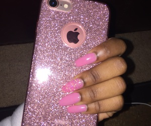 coffin, sparkle, and rose gold image