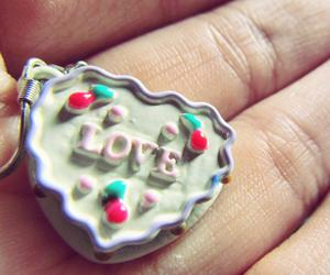 cake, earings, and love image