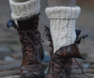 boots, cozy, and fashion image